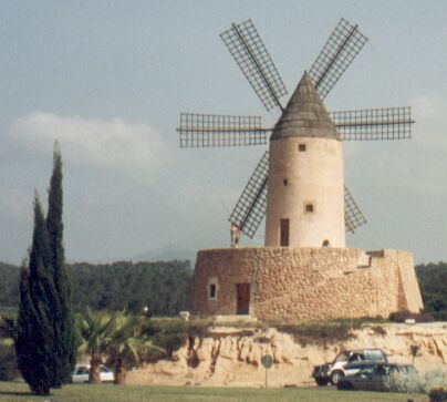 a windmill in Mallorca/Spain